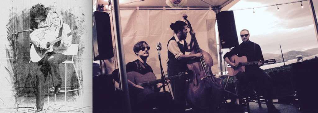 Betty Johnson (left) and Aaron Loewen Trio (right) 2017 Summer Music Series