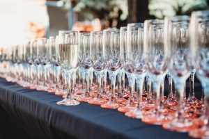 champagne flutes at S0R 2017