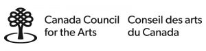 Canada Council for the Arts/Conseil des arts du Canada. Logo is a black tree.